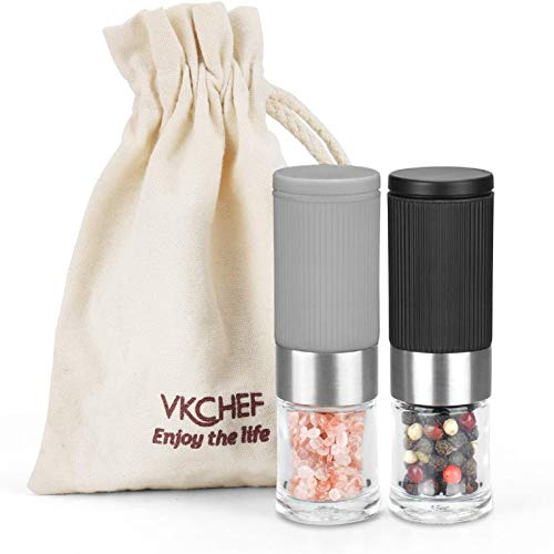 Mini Salt and Pepper Grinder Set, Adjustable Coarseness Ceramic Portable Handy Spice Pepper Grinder Shaker For BBQ Party,Lunch Box Kitchen Gifts Christmas Present…