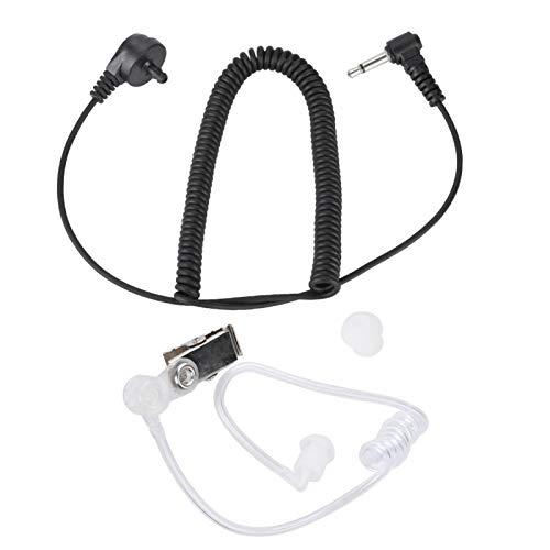 Dilwe 3,5-mm-Luftschlauch-Ohrhörer von Bewinner reduziert Funkwellenstrahlung - Walkie Talkie-Headset für den Einsatz in Lauten Umgebungen - kompatibel mit den meisten CB-Funklautsprechern