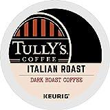 Tully's Coffee, Italian Roast, Single-Serve Keurig K-Cup Pods, Dark Roast Coffee, 96 Count (4 Boxes...