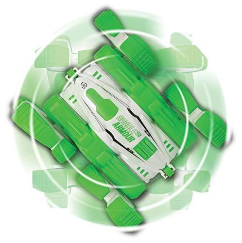 Dickie Toys 201103001 Rocking Flippy, ferngesteuertes Auto, Rotations & Flip Funktion, Action-RC-Fahrzeug, 2-Kanal-Funkfernsteuerung, Geschwindigkeit bis 8 km/h, 15 cm, weiß/grün, ab 6 Jahren