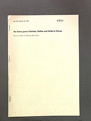 The lichen genera Cladonia, Cladina and Cladia in Taiwan. Sonderdruck aus: Ann.Bot.Fennici 16: 1979
