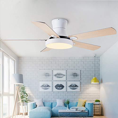 L-WSWS Luz del ventilador de techo 52 pulgadas Moderno Techo Ventilador de ventilador con luces Control remoto Ventilador Lámpara Dormitorio Decoración Aire Enfriamiento Cinco Hoja (Blade Color : 3)