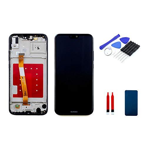 kaputt.de display met frame zwart (5,84 inch) voor Huawei P20 Lite   LTPS IPS LCD-scherm incl. doe-het-zelf reparatieset
