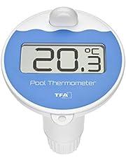 TFA Dostmann Poolsändare med display, med temperaturvisning, vattentemperatur, svart, L 97 x B 105 x H 168 mm