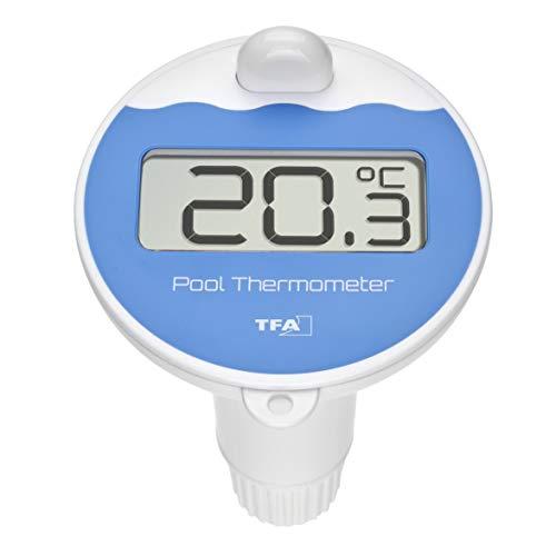 TFA Dostmann Poolsender mit Display, mit Temperaturanzeige, Wassertemperatur, schwarz, L110 x B110 x H185 mm