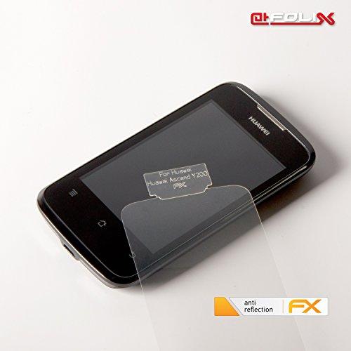 atFoliX Displayschutzfolie für Huawei Ascend Y200 (3 Stück) - FX-Antireflex: Displayschutz Folie antireflektierend! Höchste Qualität - Made in Germany! - 3
