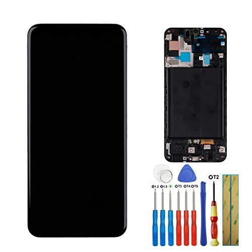 E-yiiviil Amoled scherm compatibel met Samsung Galaxy A50 (2019) A505F/DS A505F A505FD A505A 6,4