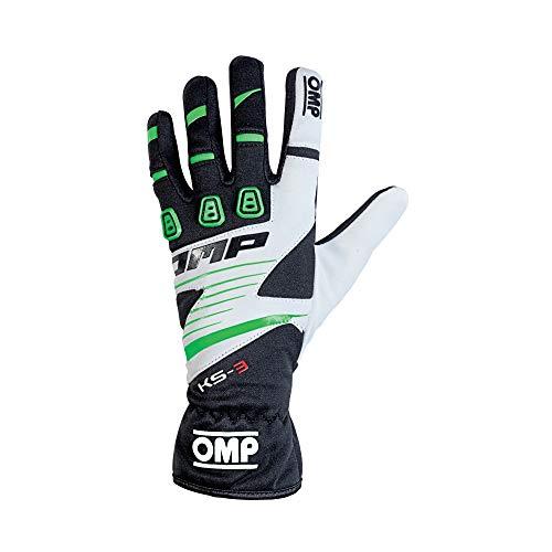 OMP OMPKK02743E270S Ks-3 Guantes My2018 Negro/W. / S Verde Sz