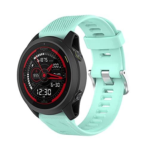 KINOEHOO Correas para relojes Compatible con Garmin Forerunner 745 Pulseras de repuesto.Correa de Reloj.(Verde azulado)