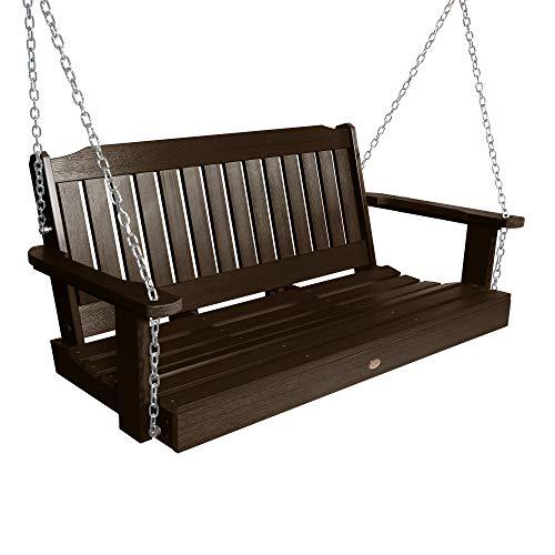 Highwood AD-PORL2-ACE Lehigh Porch Swing, 4 Feet, Weathered Acorn