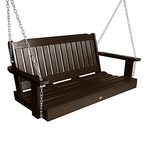 Highwood Lehigh Porch Swing 4 feet, Weathered Acorn