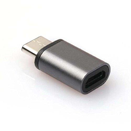 Cikuso Mini-USB USB 3.1 Tipo-C Adaptador USB Negro