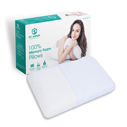 "MY ARMOR Orthopaedic Memory Foam Pillow for Comfortble Sleep, King Size (24"" x 15""x 5"")"