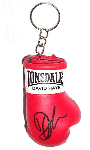 Signiert Mini Boxhandschuh Schlüsselanhänger David Haye