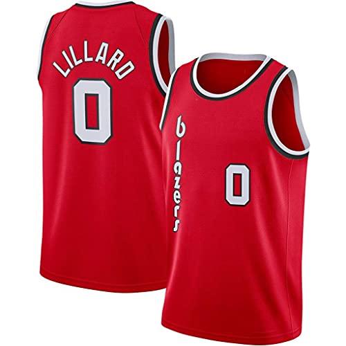 WEIZI Portland Trail Blazers #0 Damian Lillard Camisetas de Baloncesto Jersey,Bordado Transpirable y Resistente al Desgaste Camiseta para Fan(Tamaño: S-XXL)