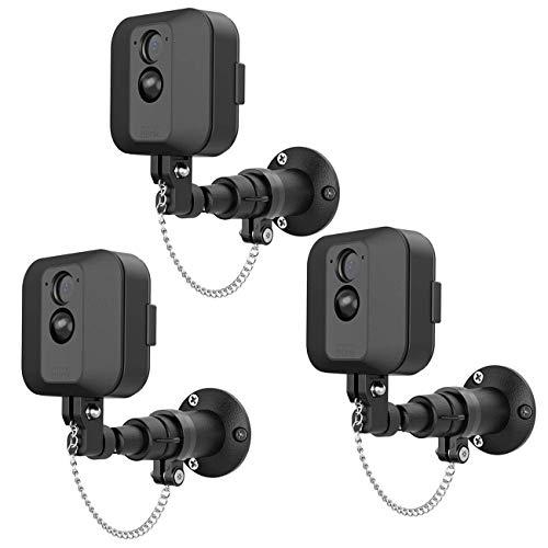 TIUIHU Sicherheits-Außenhalterung für Blink XT, Blink XT2, Kamera mit Diebstahlschutzkette und Metall-Wandhalterung, extra Schutz für Ihre Blink-Home-Securitykamera, schwarz