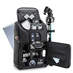 BEST VALUE CAMERA BACKPACK with features normally found only on more expensive camera packs. Tons of customizable storage space, top compartment to fit your phone, charger and many other accessories THE PERFECT AMOUNT OF SPACE FOR YOUR CAMERA GEAR – ...