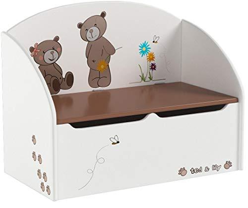 Demeyere Spielzeugtruhe Ted und Lily, beige/chocolate, 69.5×29.5×55.5cm - 5