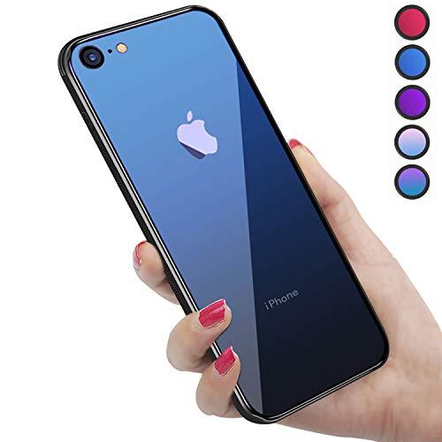 iPhone SE ケース 第2世代 iPhone8 ケース iPhone7 ケース 2020年新型 強化ガラス 9H硬度加工 ガラスケース...