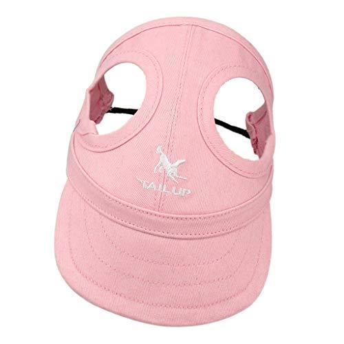 perfk Haustier Baseballmütze Sonnenhut Baseball Cap Mütze Kappe für kleine bis große Hunde - Rosa, S