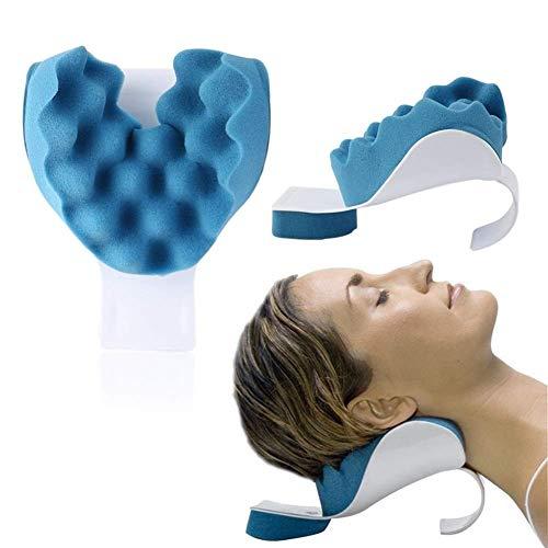TIANYOU Relajador de Cuello Y Hombro, Alineación de la Alineación Terapéutica Suave Almohada de Masajeador de Estiramiento para el Estrés de la Liberación Actualizar tecnología de c