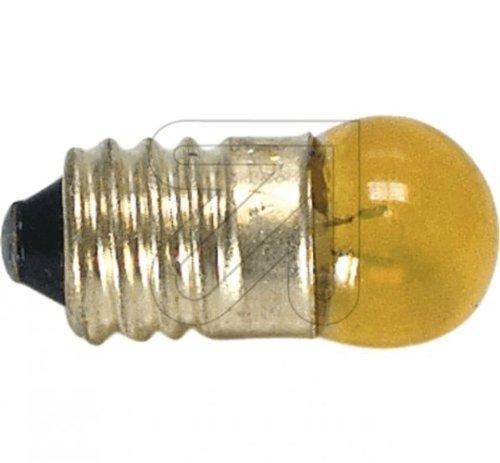 Globe Warehouse 10 Stück Kugellampe E10 gelb 3,5V 0,2 A Glühlampe Glühbirne
