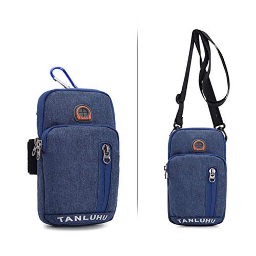 SweetWU - Brazalete para correr, soporte de teléfono, pasaporte, bolsa de viaje, cinturón de dinero, bolsa de cintura, bandolera, para deportes al aire libre, para ciclismo