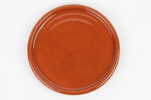 Plato de barro para chuletón, hecho a mano tradicionalmente. Medidas 27 cm diámetro. 2,5cm altura. De muy buena calidad. 1,9 kg Totalmente artesanal