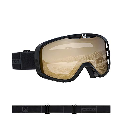 Salomon, Aksium Access, Máscara de esquí unisex, Negro/Naranja (Universal Tonic), L40845500