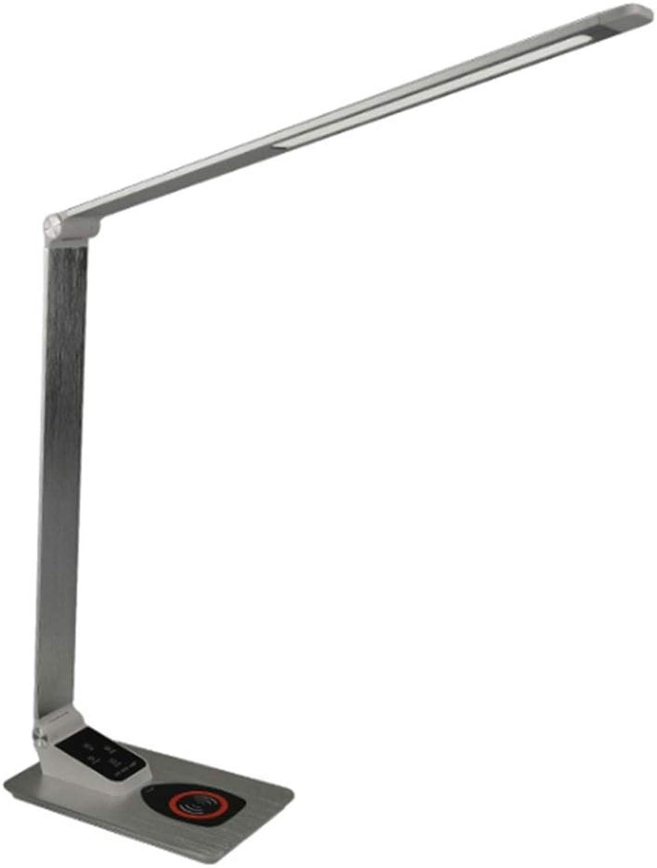 Schreibtisch Tischleselampe Faltbare Touch Control Metall LED Schreibtischlampe Drahtloses Ladegert Dimmbare Tischlampe Nachtlicht 3 Farbtemperaturen mit 5 Helligkeitsstufen 5V   2A USB Port