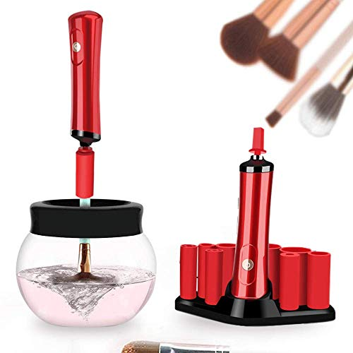 Electric Makeup Brush Cleaner and Dryer - the Best Professional Automatic Makeup Brush Cleaner Spinner Washing Machine Portable Quick Dry Electronic Makeup Brushes Cleaning Solution in Seconds