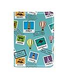 TIZORAX Travel Around The World Timbri Titolare del passaporto da viaggio Custodia in pelle per carte di credito