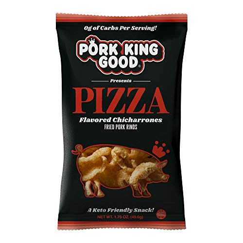 Pork King Good Pizza Pork Rinds (Chicharrones) (4 Pack) Keto Snacks