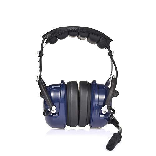 Cracklight - Auriculares con cancelación de ruido GA Dual Plugs Aviation Pilot, cancelación de ruido, entrada de música MP3 con cómodos tapones de oído