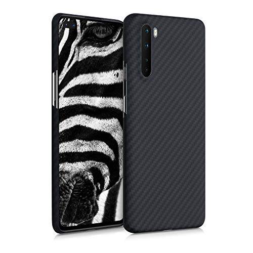 kalibri Schutzhülle kompatibel mit OnePlus Nord - Hülle Aramid - Handy Cover Hülle Handyhülle Schwarz matt