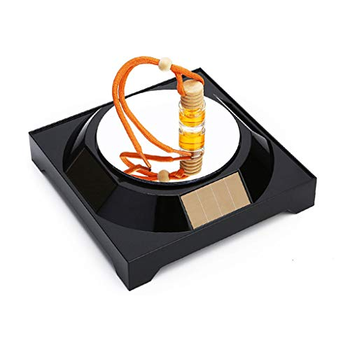 Estante Giratorio LED Solar, Reloj Giratorio con Plataforma giratoria de 360 °, Reloj, Estante de exhibición de Administrador de joyería para teléfonos móviles, etc.
