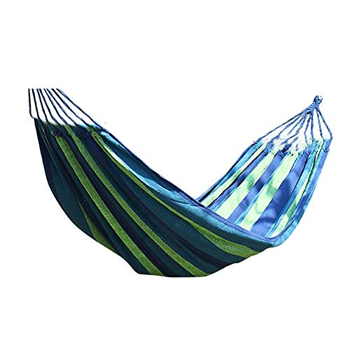 Hamaca de camping Wuqing, luz para exteriores, jardín, ideal para camping, senderismo, viajes, color azul