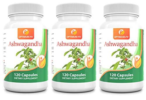 Ashwagandha Wortel Extract – Natuurlijk Ayurvedisch Adaptogeen Supplement – Stimuleert Wellness – Gaat Stress Tegen – 1000 mg Poeder per portie (60 dagen voorraad) 120 Capsules