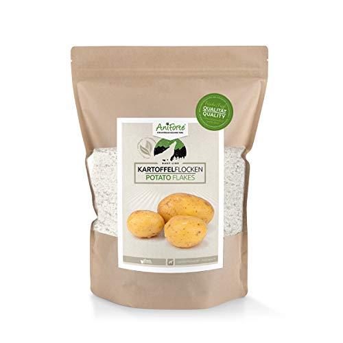 AniForte Barf Zusatz Hund Kartoffelflocken 1kg – Naturprodukt, Barf Hundefutter, getreidefrei, glutenfrei, Flocken für Hunde ohne künstliche Zusätze, Natur Hundeflocken, Kartoffelflocken für Hunde