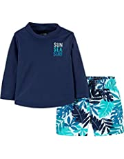 Simple Joys by Carter's Baby and Toddler Boys' 2-Piece Swimsuit Trunk and Rashguard Jongens Rash Guard Set