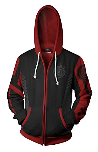 Wish Costume Shop Anime RWBY Cosplay Costume Hoodie Rose Zipper Sweatshirt (XL, Rose)