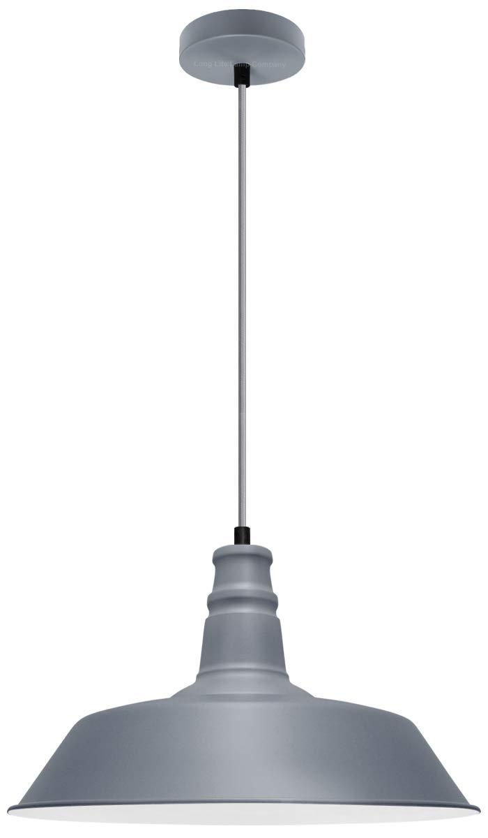 Modern Retro Pendant Ceiling Light Shade Grey Metal Traditional Bowl Lampshade M0092