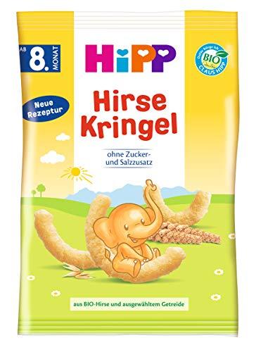 Hipp Knabberprodukte Kinder Hirse-Kringel, 5er Pack (5 x 30 g)