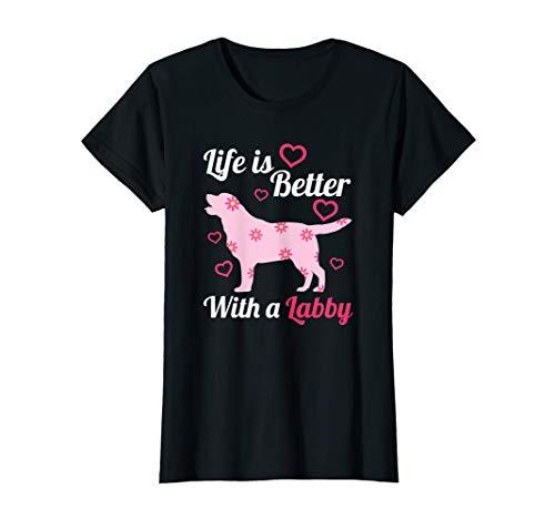 Labrador Retriever Girlie Herz - Hund Mama Geburtstag T-Shirt