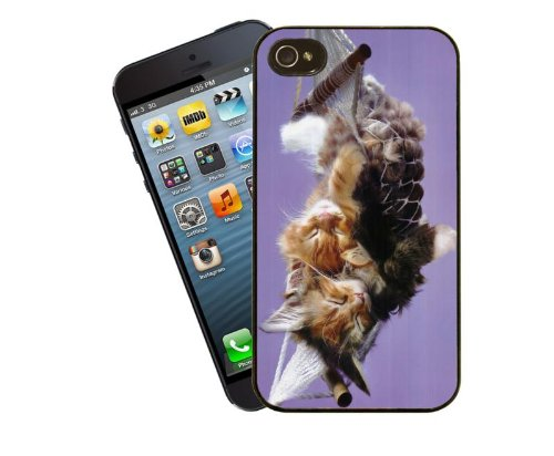Eclipse Gift Ideas Cat telefoonhoesje, design 3 - Leuke Ginger en Tabby Kittens slapen in mini hangmat - Voor Apple iPhone 5 / 5s - Cover