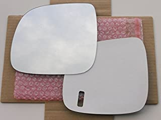 New Replacement Mirror Glass with FULL SIZE ADHESIVE for 2007-2010 VOLKSWAGEN TOUAREG - AUDI Q7 Driver Side View Left LH