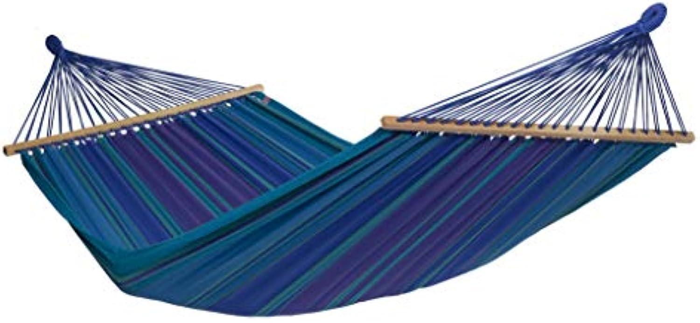 HngemattenGlück FAMOSA Stab-Hngematte XL - Sonderposten - 100% Bio & Fair - direkt vom Hersteller - Farbe Azur