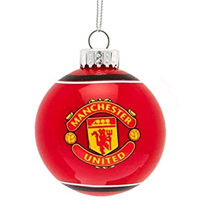 Manchester United F.C. Glass Bauble (3 inches Diameter)