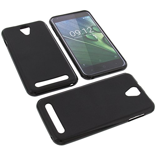 foto-kontor Tasche für Acer Liquid Z6 Gummi TPU Schutz Handytasche schwarz