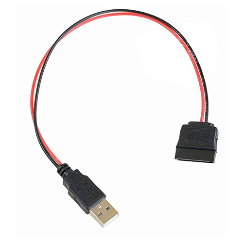 P52 USB Stecker auf SATA 15pin Kabel Adapter Stromkabel für PC SATA Festplatte, Kompatibel zum Serial ATA Standard, USB Stecker auf SATA Anschluss 15pin für zusätzliche Stromversorgung